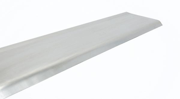 Formed stainless steel metal baseboard molding