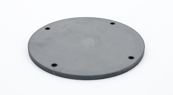 Laser cut hot roll steel circle base plate mounting bracket manufactured part