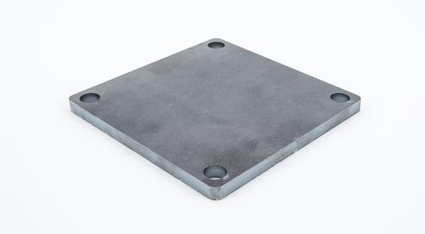 Laser cut hot roll steel square base plate mounting bracket