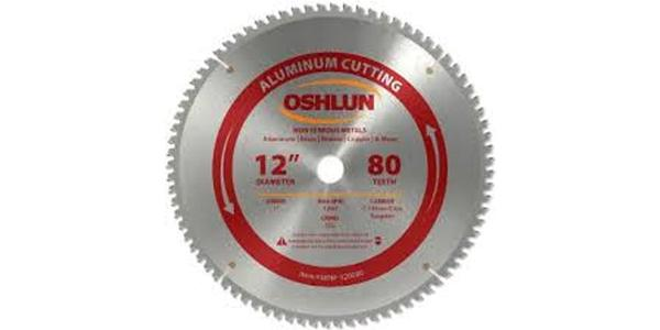 Oshlun 12 Inch Aluminum Replacement Circular Saw Blade at Coremark Metals