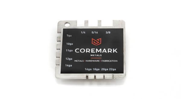 Coremark metals branded sheet metal measuring gauge tool stainless