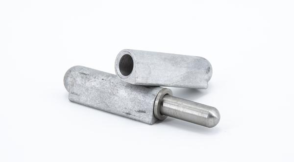 Marlboro Weld-On Hinge - Aluminum - w/Stainless Steel Pin and Bushing hardware at Coremark Metals